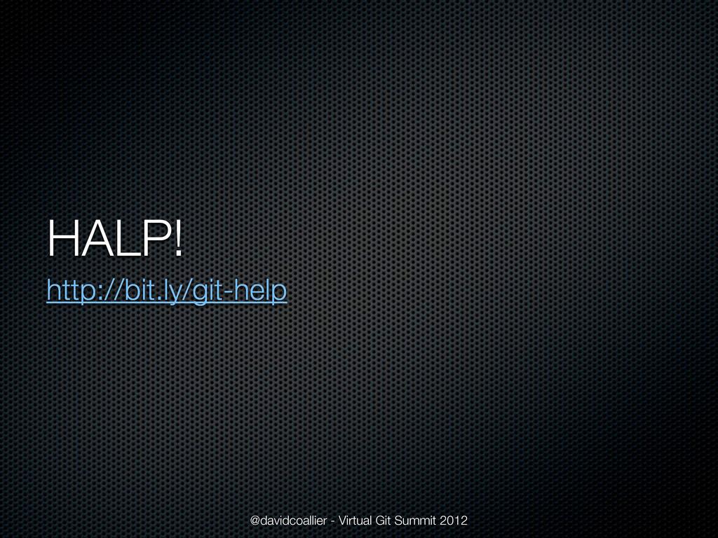 HALP! http://bit.ly/git-help @davidcoallier - V...