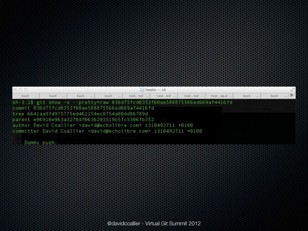 @davidcoallier - Virtual Git Summit 2012