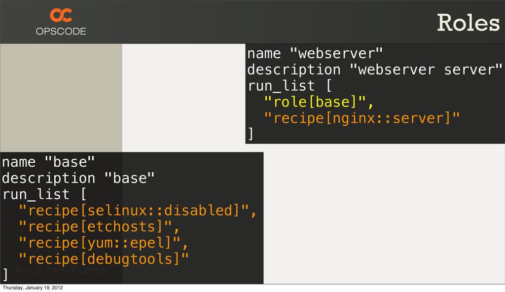 "Roles name ""base"" description ""base"" run_list [..."