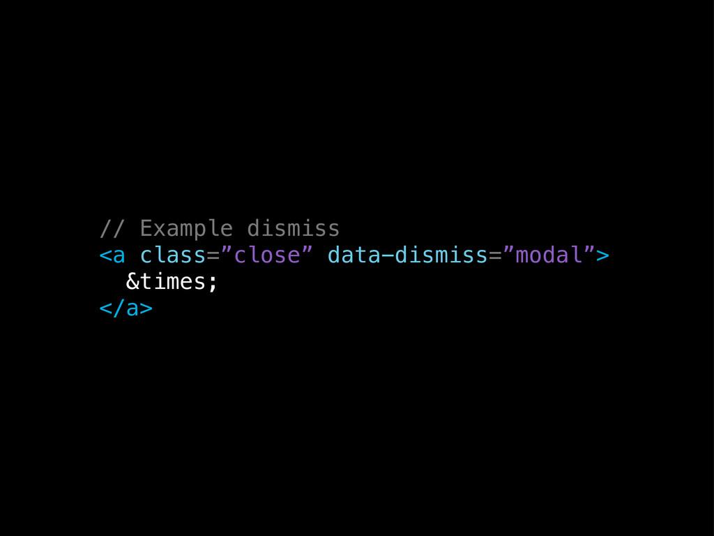 "// Example dismiss <a class=""close"" data-dismis..."