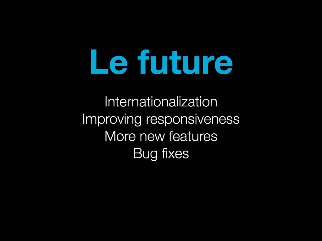 Le future Internationalization Improving respon...