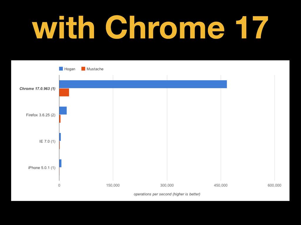 with Chrome 17