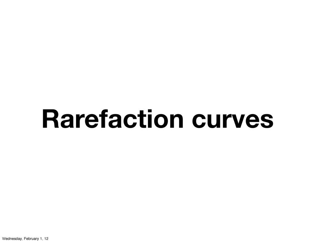 Rarefaction curves Wednesday, February 1, 12