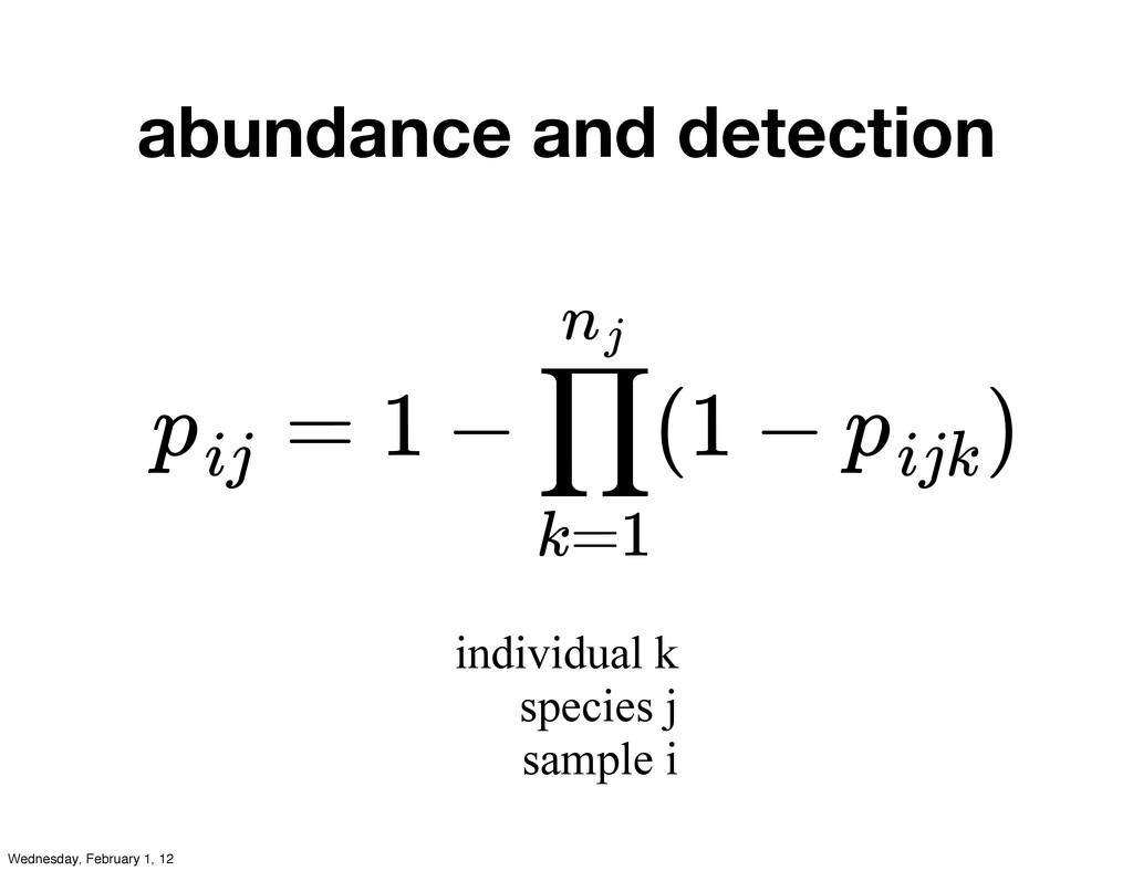 abundance and detection = 1 − (1 − ) pij ∏ k=1 ...