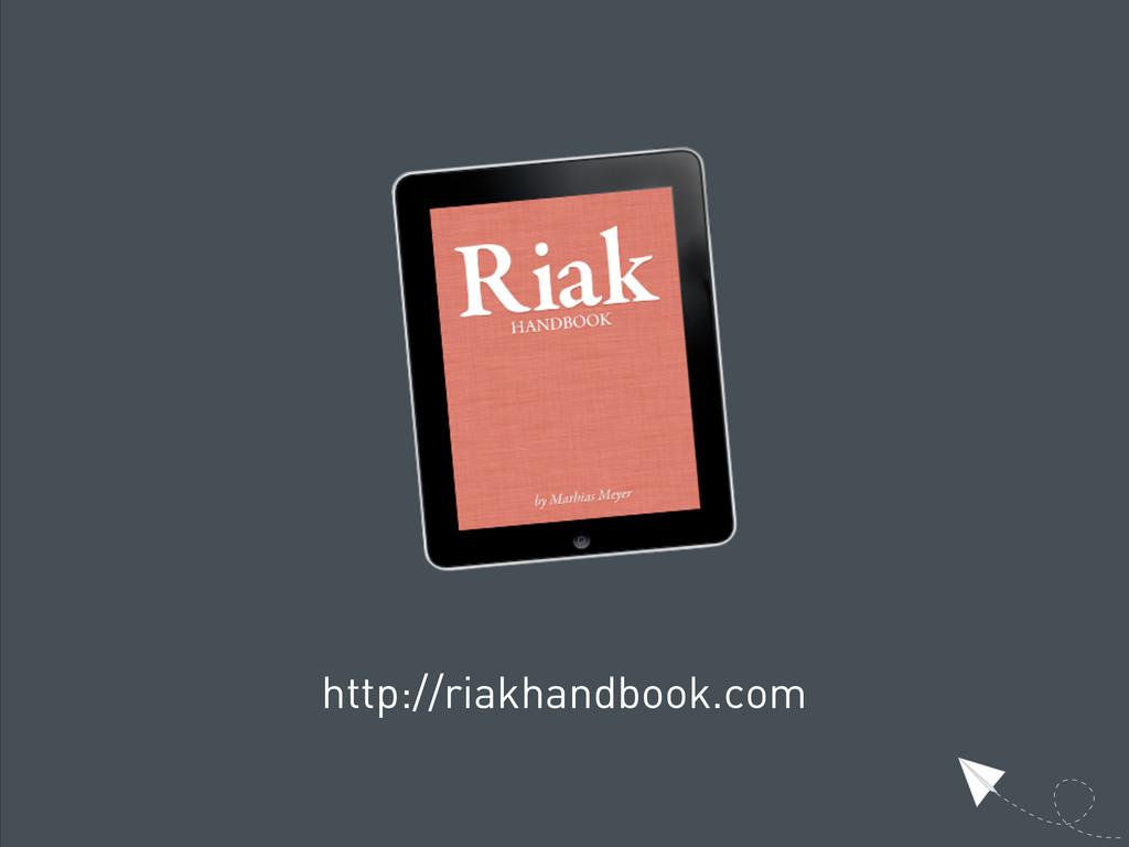 http://riakhandbook.com