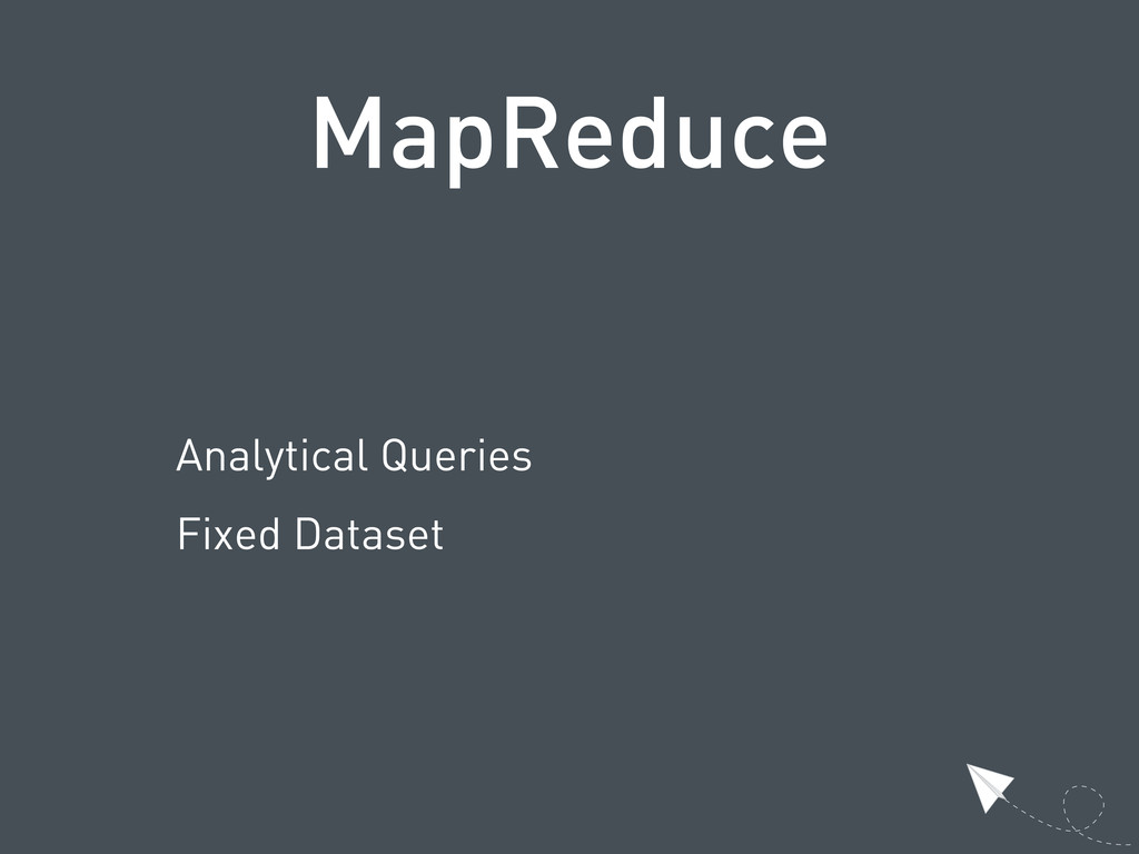 MapReduce Analytical Queries Fixed Dataset