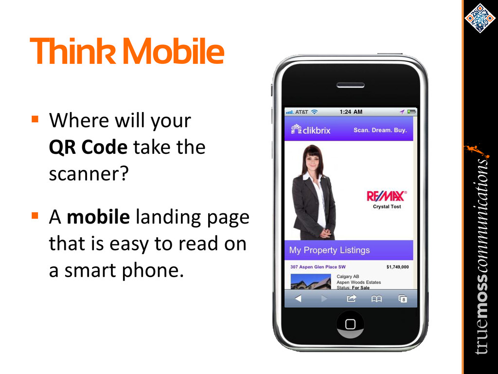 Think Mobile  Where will your QR Code take the...