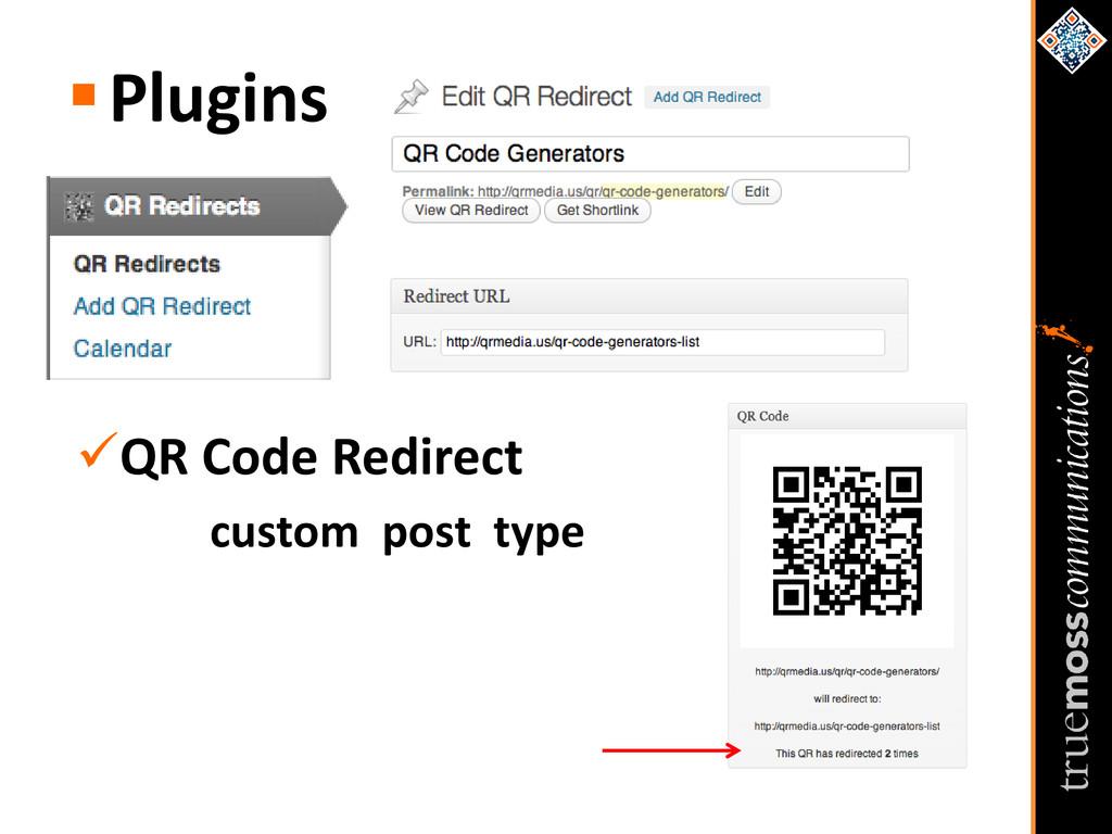 Plugins QR Code Redirect custom post type
