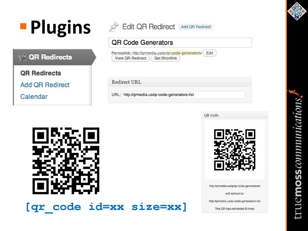 [qr_code id=xx size=xx] Plugins