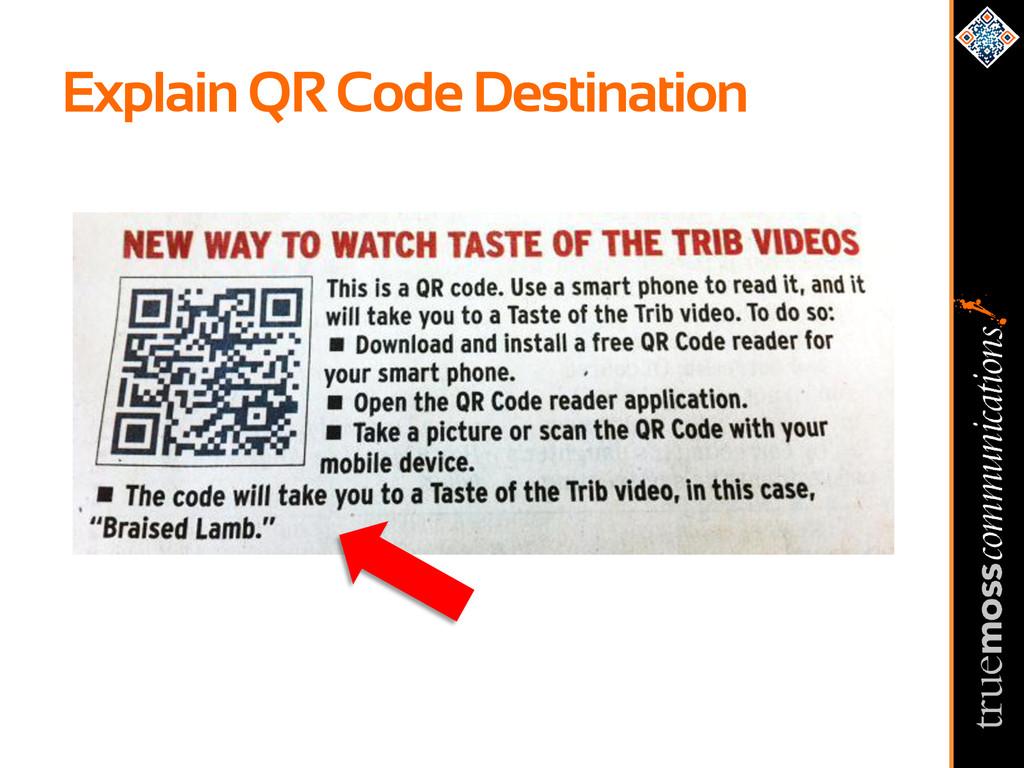 Explain QR Code Destination