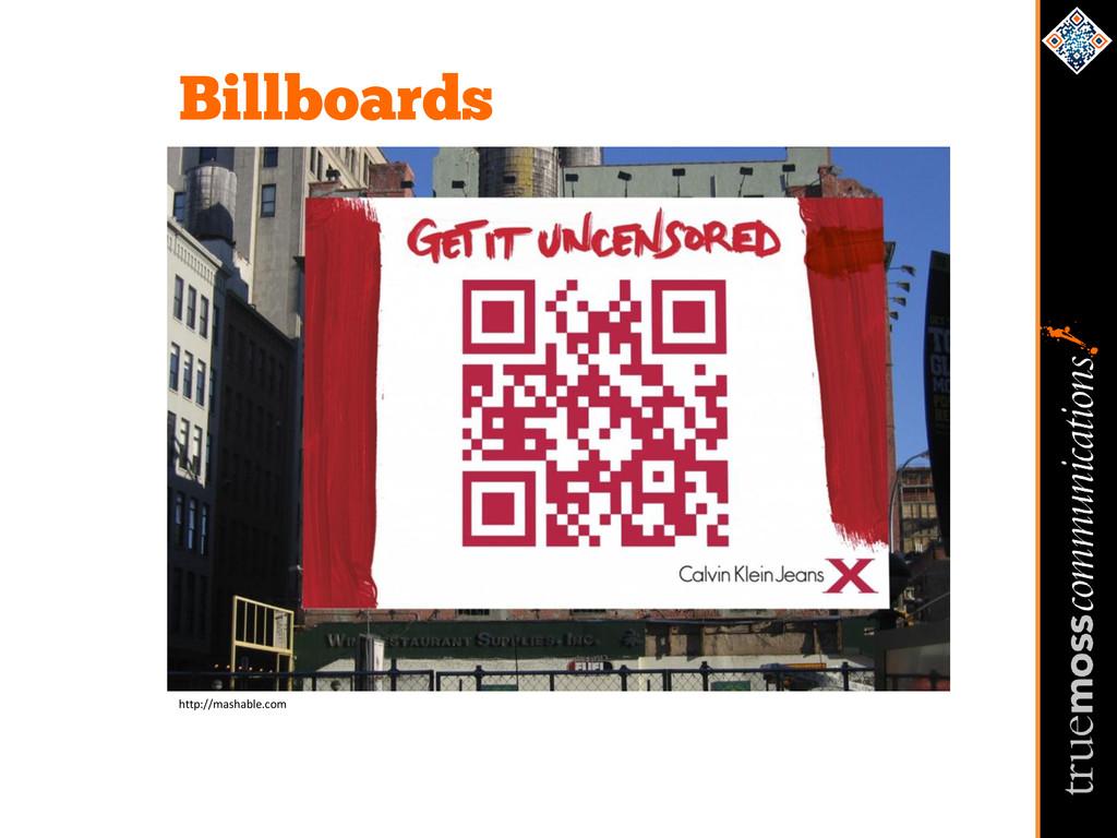 Billboards http://mashable.com