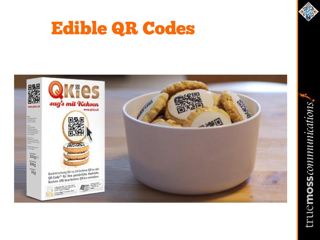 Edible QR Codes