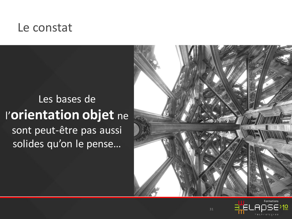 © 2015 Elapse Technologies Formations Le consta...