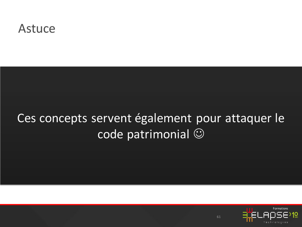 © 2015 Elapse Technologies Formations Astuce 61...
