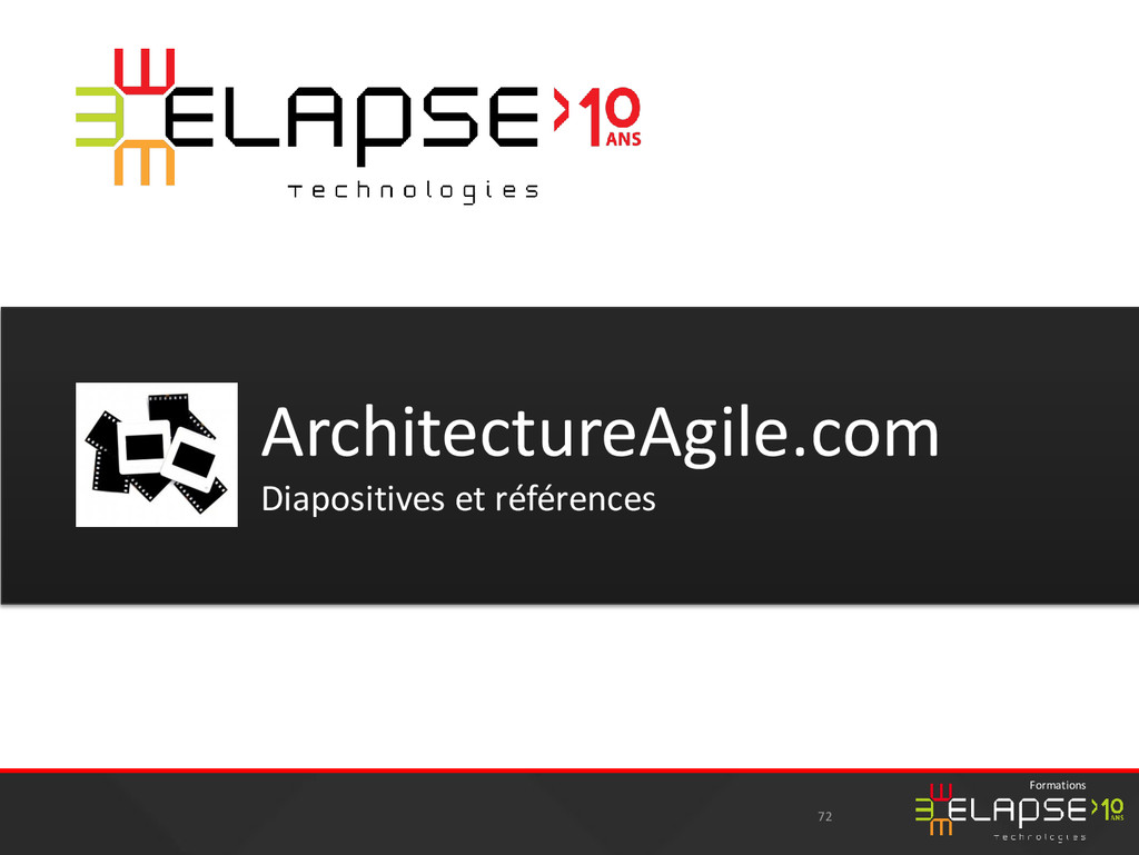 © 2015 Elapse Technologies Formations 72 Archit...