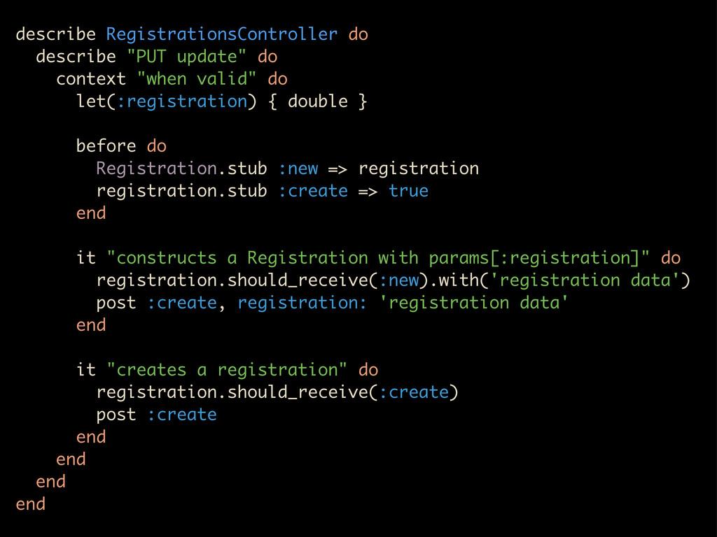 """describe RegistrationsController do describe """"P..."""