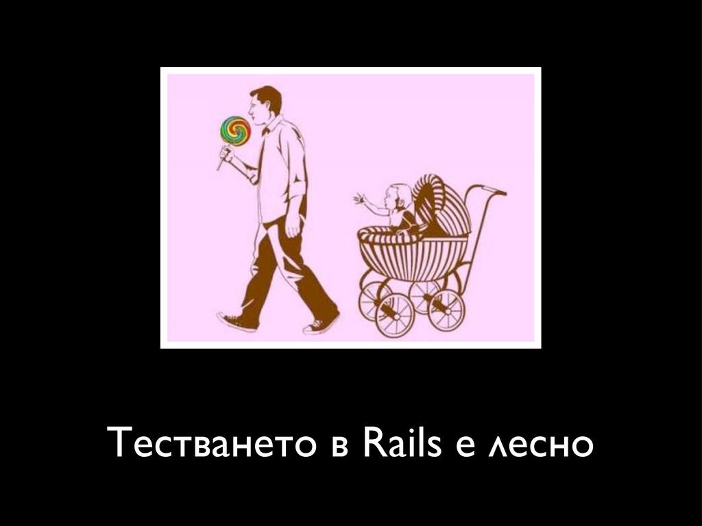 Тестването в Rails е лесно