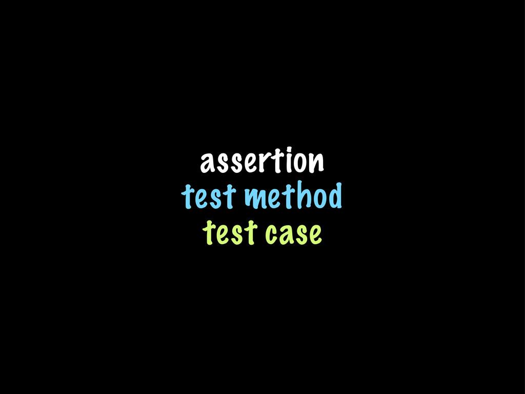 assertion test method test case