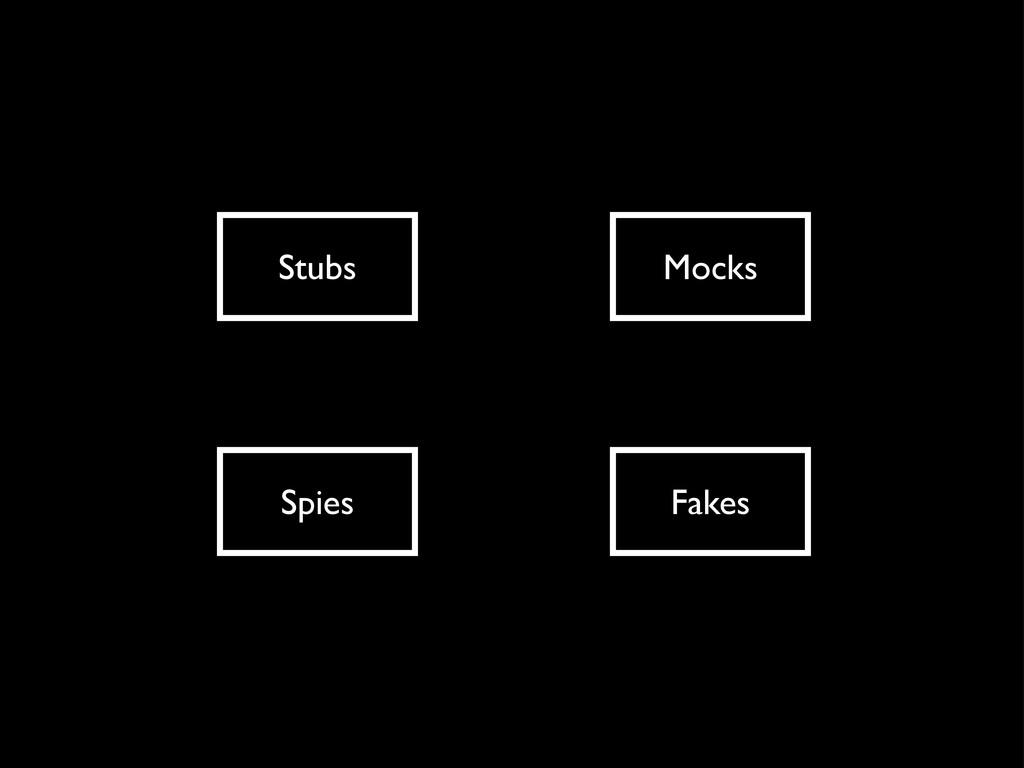 Stubs Mocks Spies Fakes