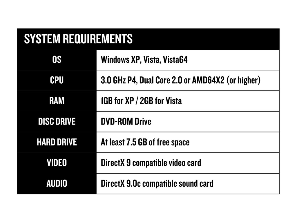 SYSTEM REQUIREMENTS SYSTEM REQUIREMENTS OS Wind...