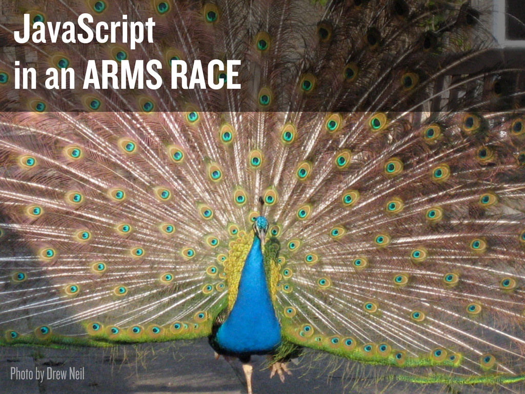 JavaScript in an ARMS RACE Photo by Drew Neil