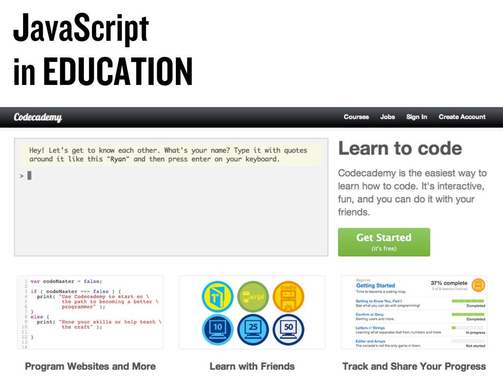 JavaScript in EDUCATION