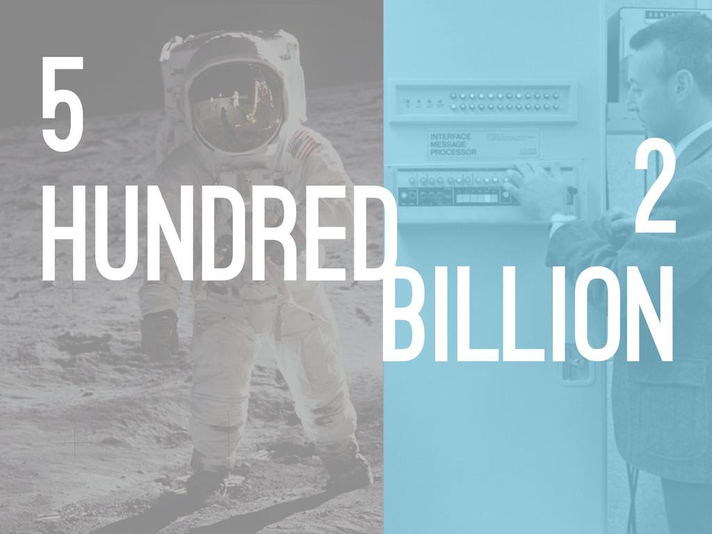 2 billion 5 hundred