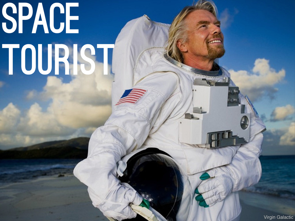 space tourist Virgin Galactic
