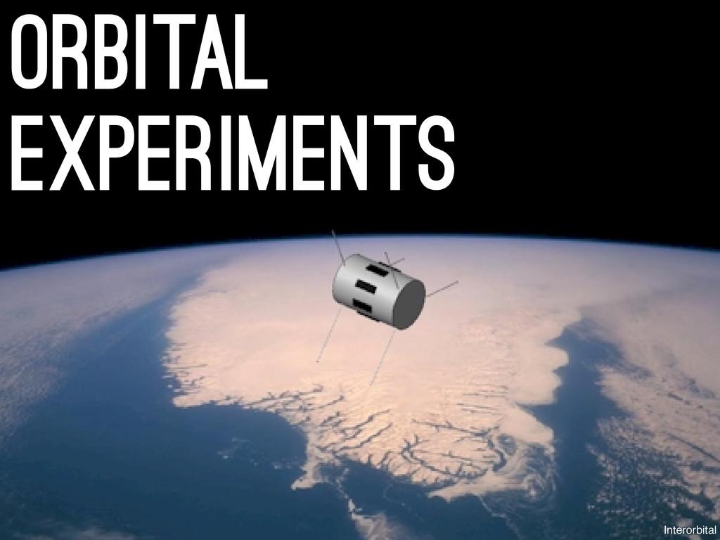 orbital experiments Interorbital