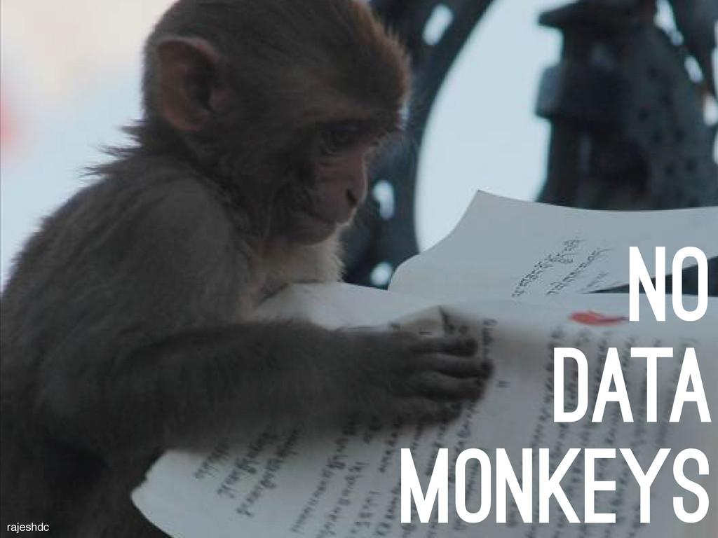 no data monkeys rajeshdc