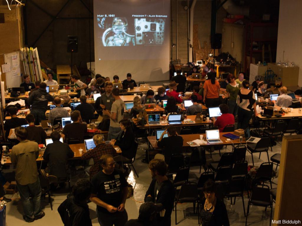 Tantek Çelik science hack day Matt Biddulph
