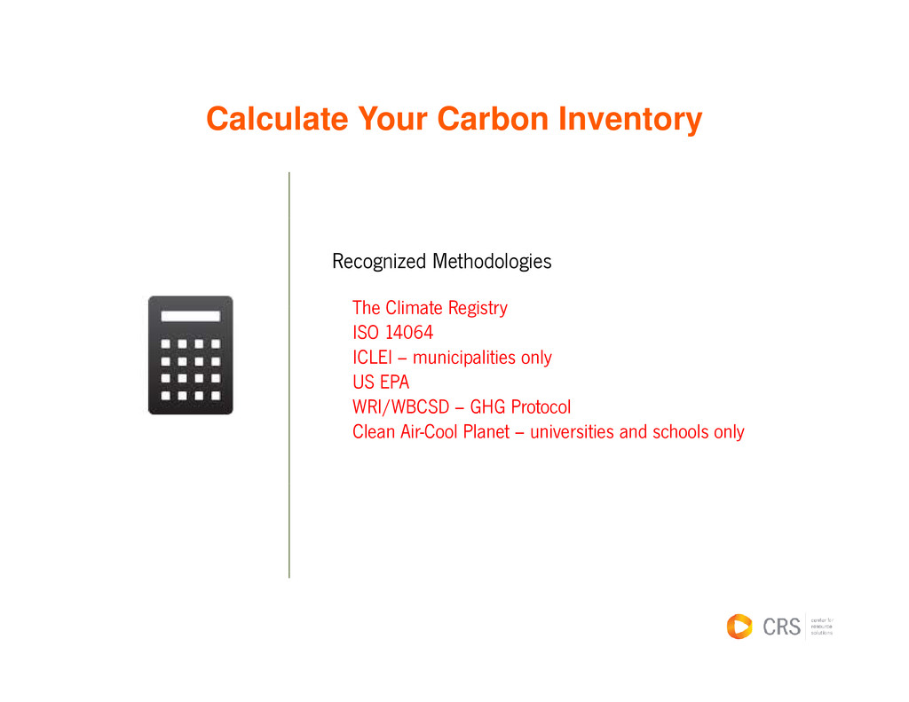 Calculate Your Carbon Inventory Ca cu ate ou Ca...