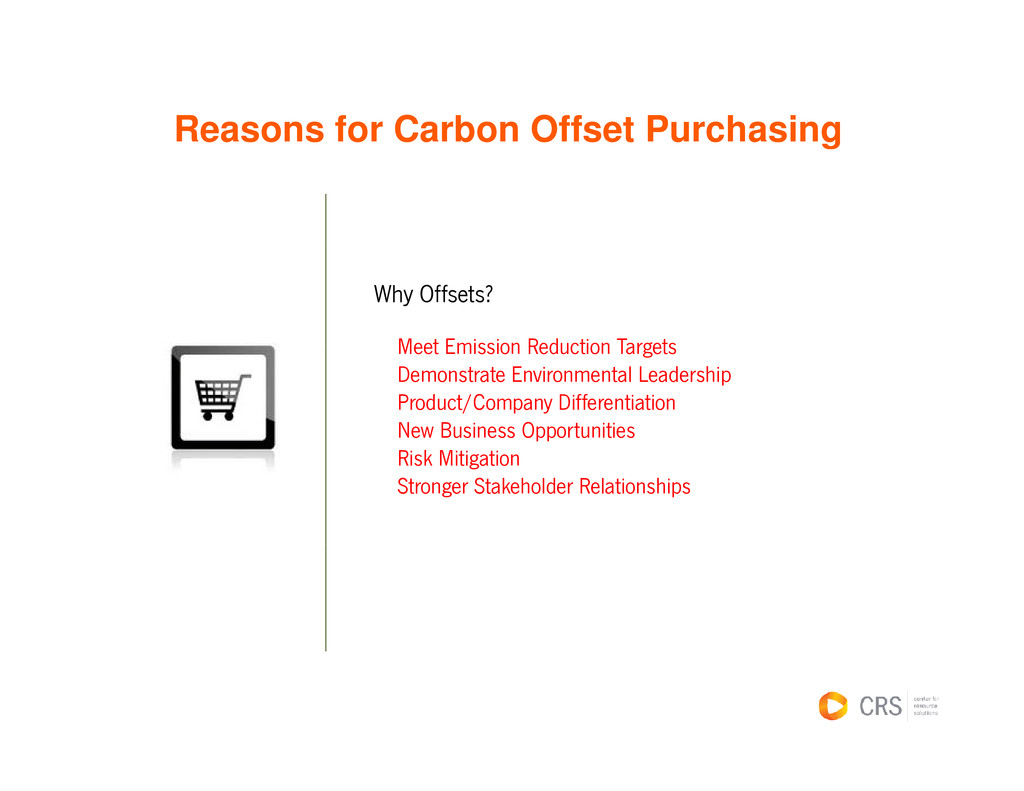 Reasons for Carbon Offset Purchasing g Why Offs...