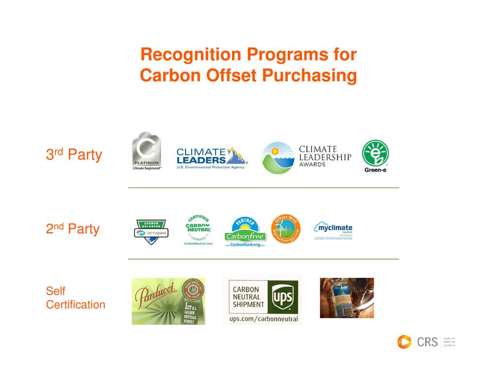 Recognition Programs for C b Off t P h i Carbon...