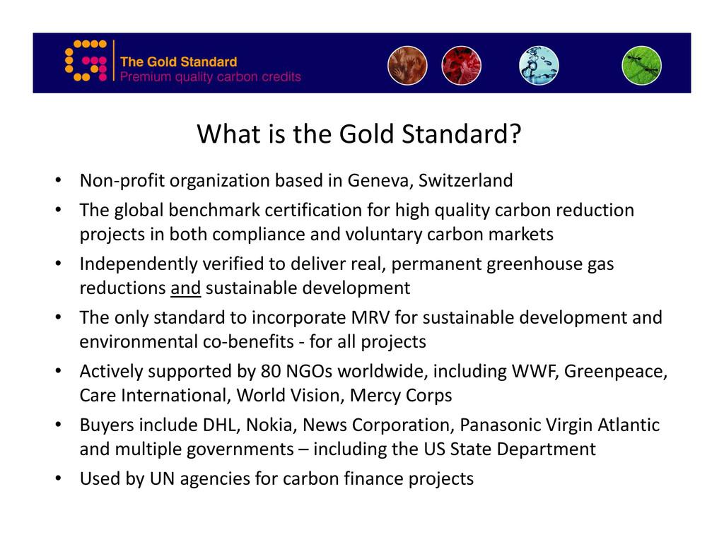 What is the Gold Standard? fi i i b d i G S i l...