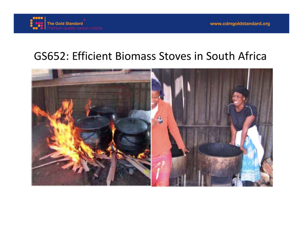GS652: Efficient Biomass Stoves in South Africa