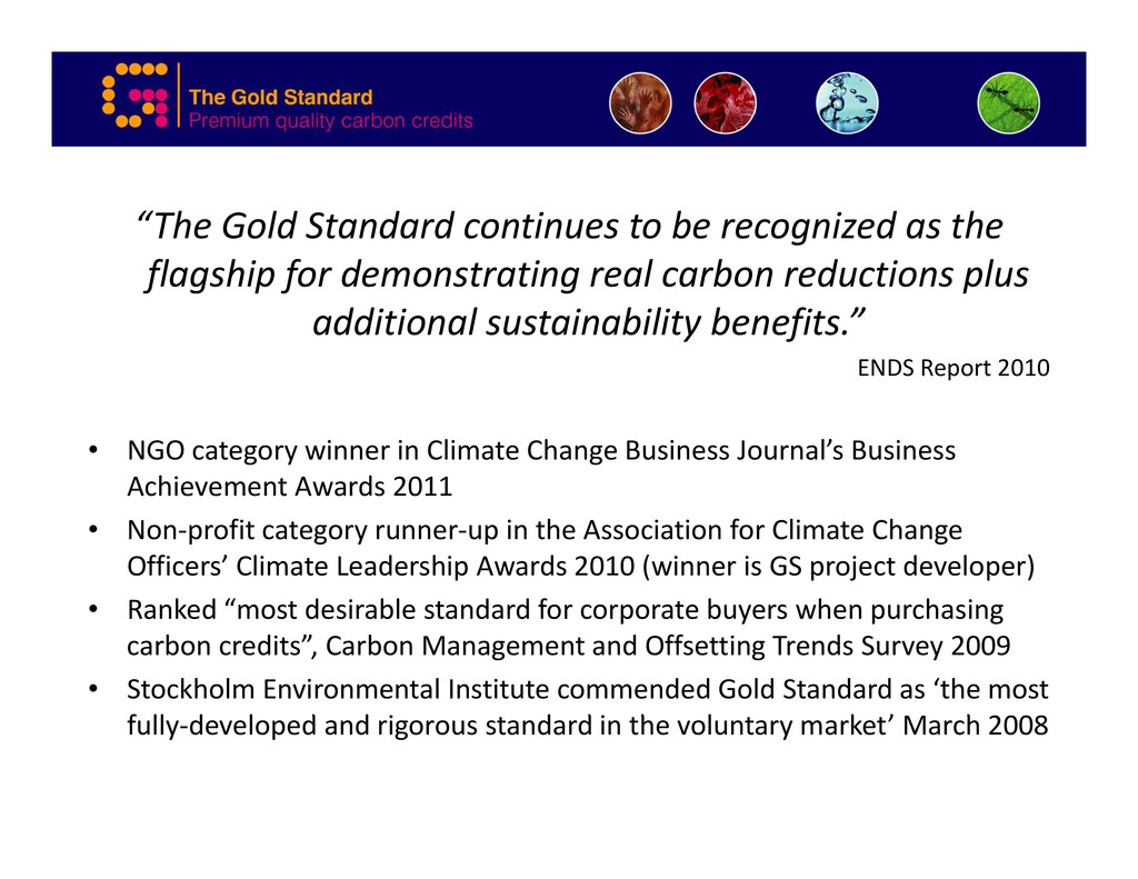 """""""The Gold Standard continues to be recognized a..."""