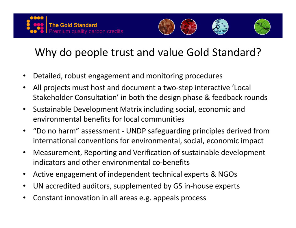 Why do people trust and value Gold Standard? • ...