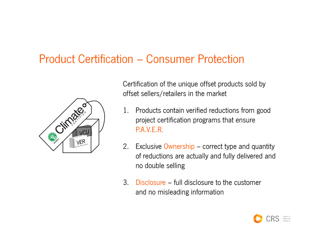 Product Certification – Consumer Protection Cer...