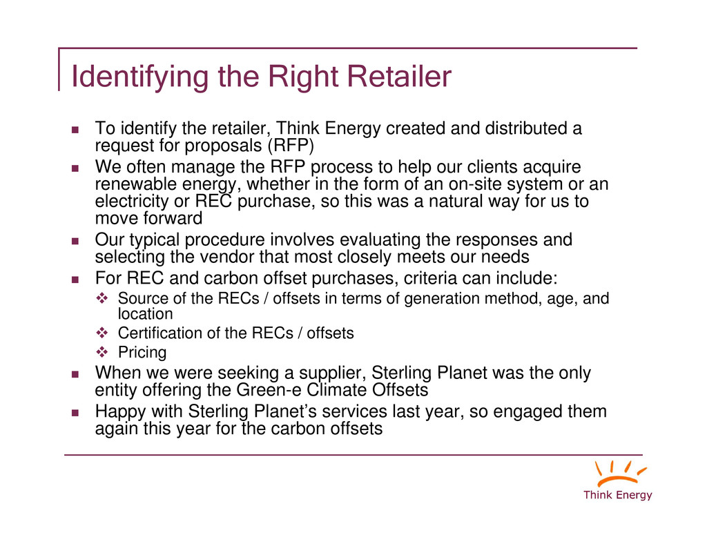 """Identifying the Right Retailer """" To identify th..."""