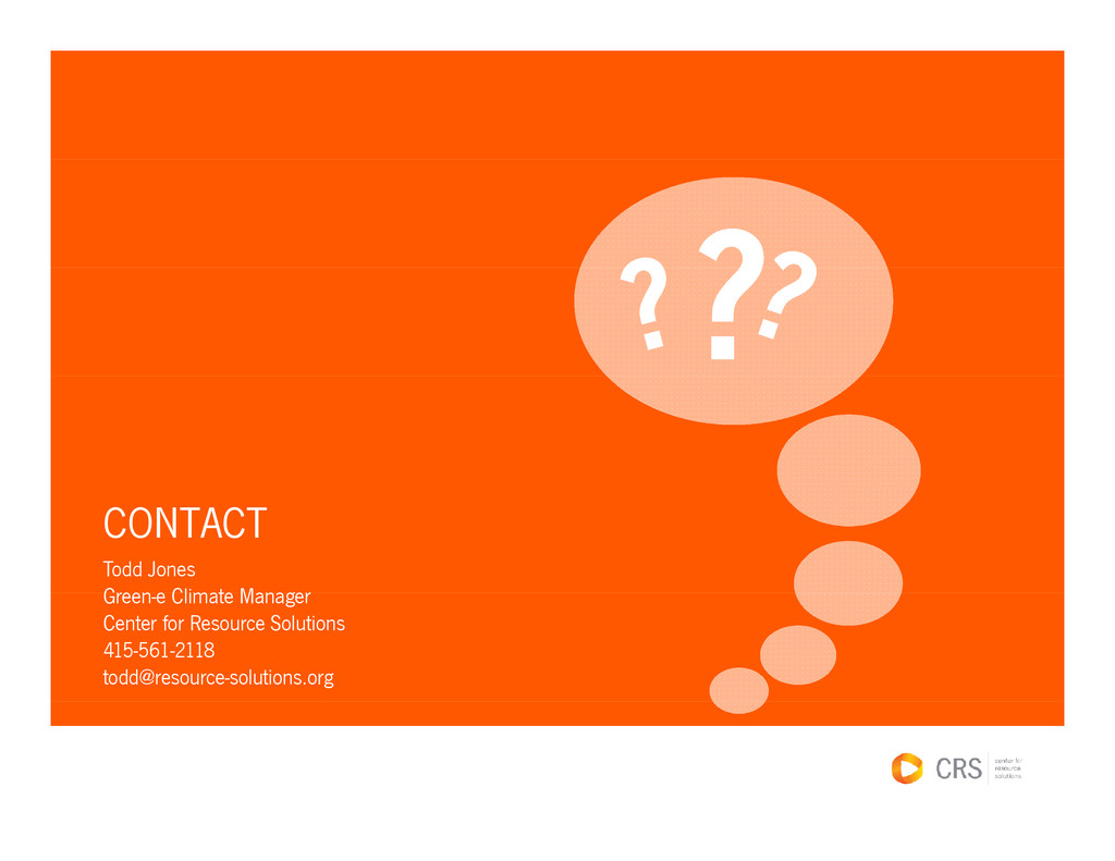 CONTACT Todd Jones Green e Climate Manager Gree...