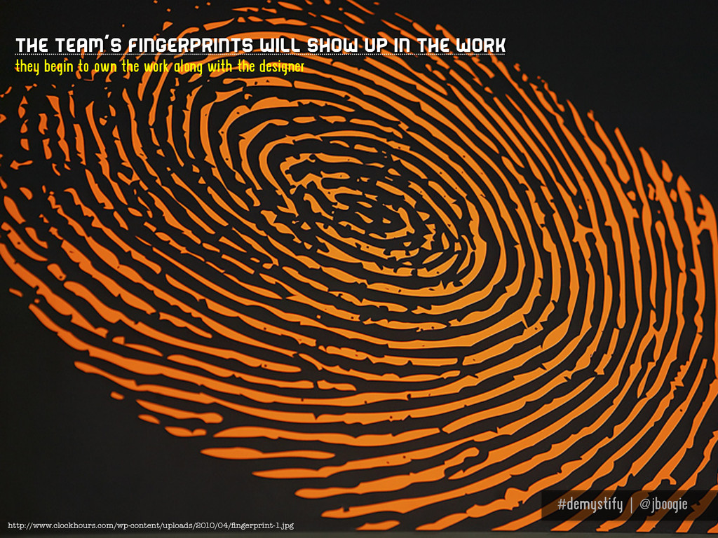 #demystify | @jboogie The team's fingerprints w...
