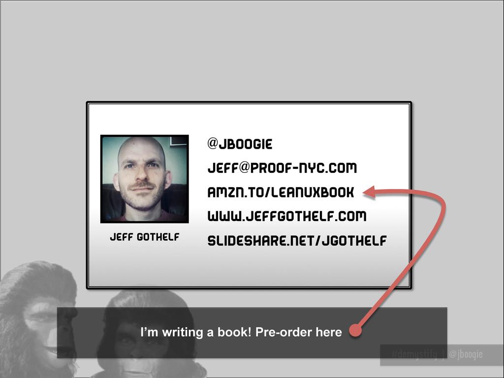 Thank you #demystify | @jboogie @jboogie jeff@p...