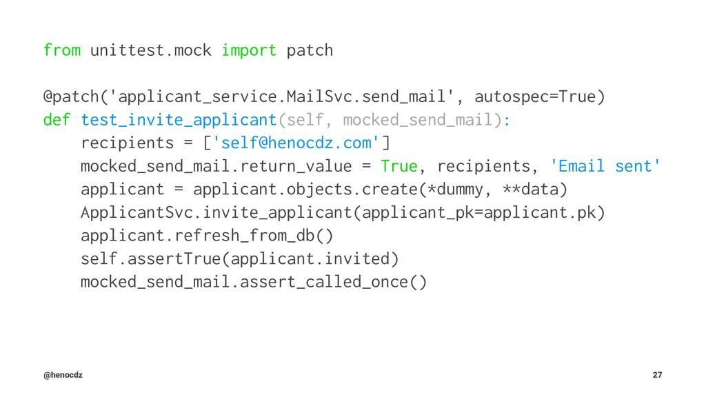 from unittest.mock import patch @patch('applica...