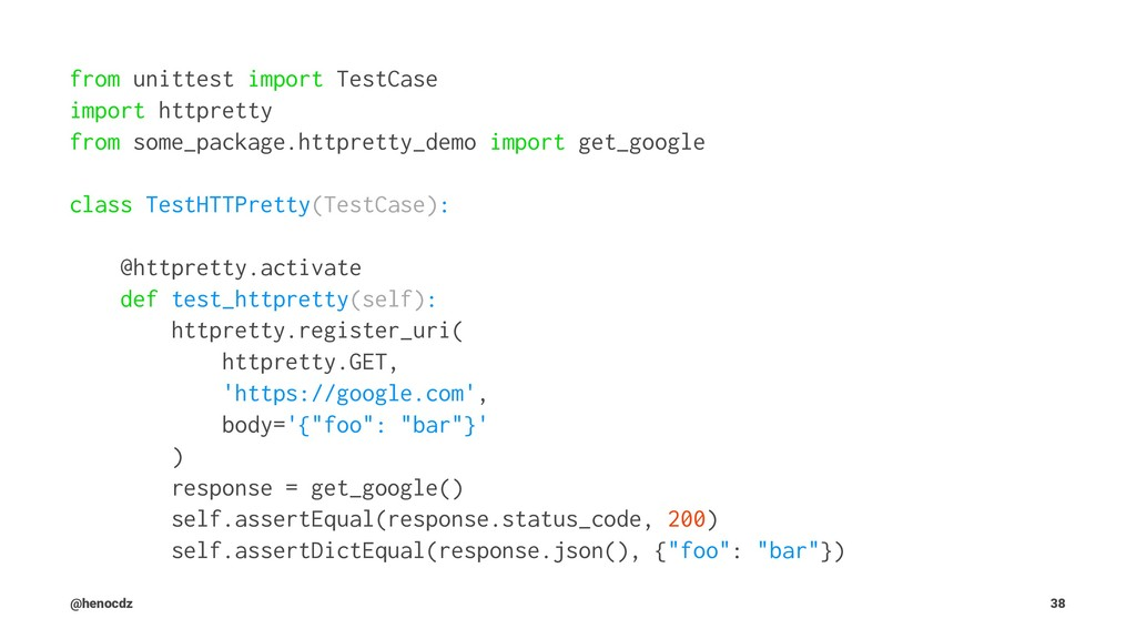 from unittest import TestCase import httpretty ...