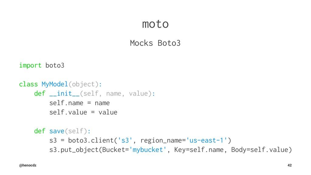 moto Mocks Boto3 import boto3 class MyModel(obj...