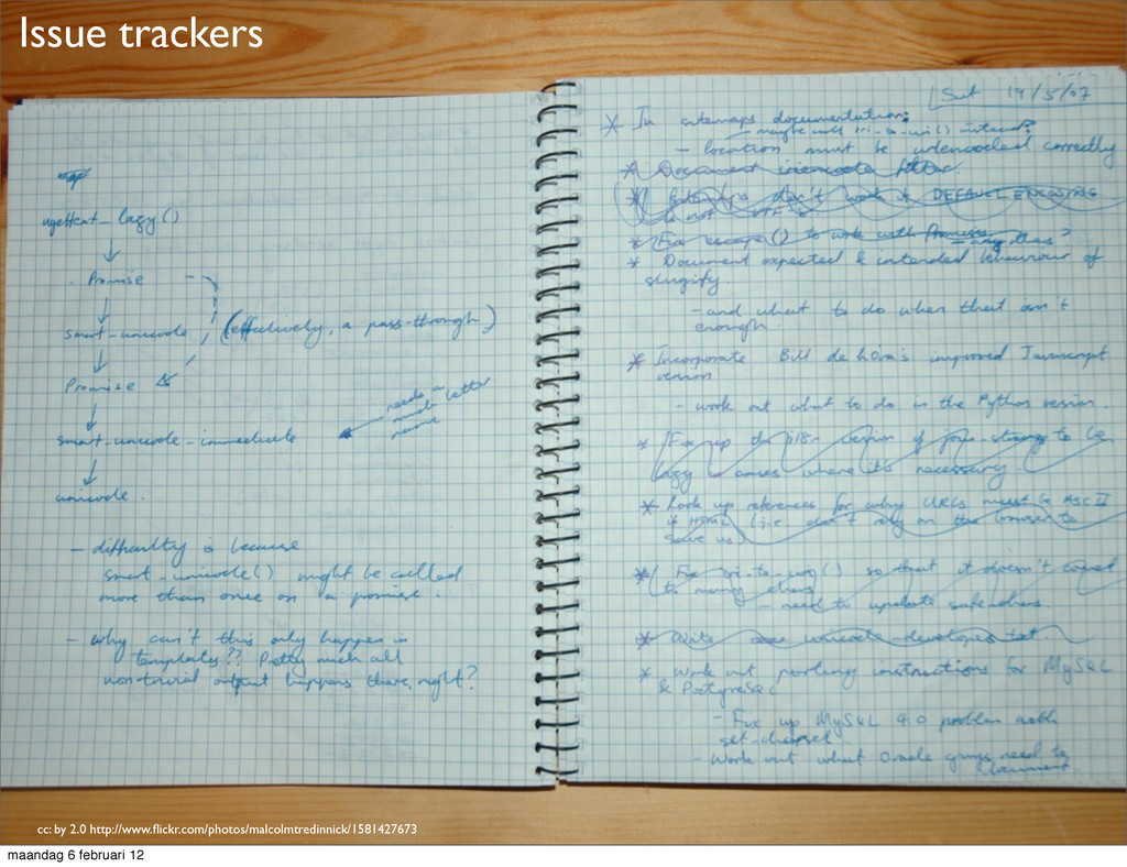 Issue trackers cc: by 2.0 http://www.flickr.com/...