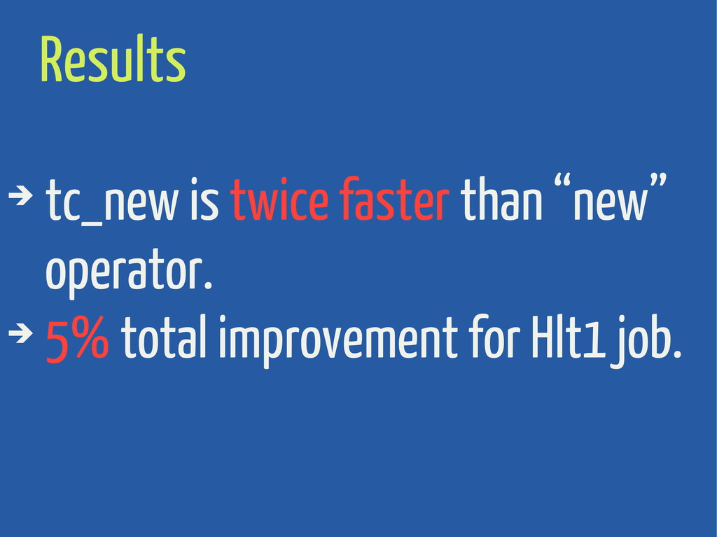 """Results ➔ tc_new is twice faster than """"new"""" ope..."""