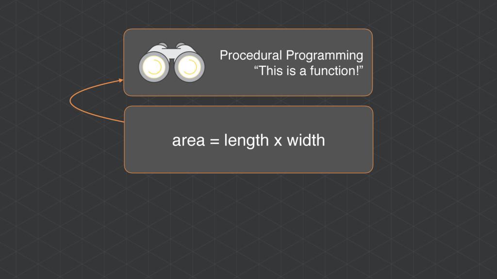 "area = length x width Procedural Programming ""T..."