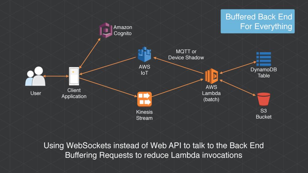 AWS Lambda (batch) User Client Application Usin...